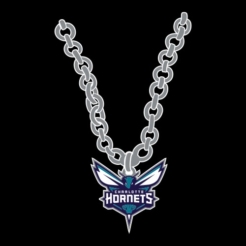 Charlotte Hornets Necklace logo iron on sticker