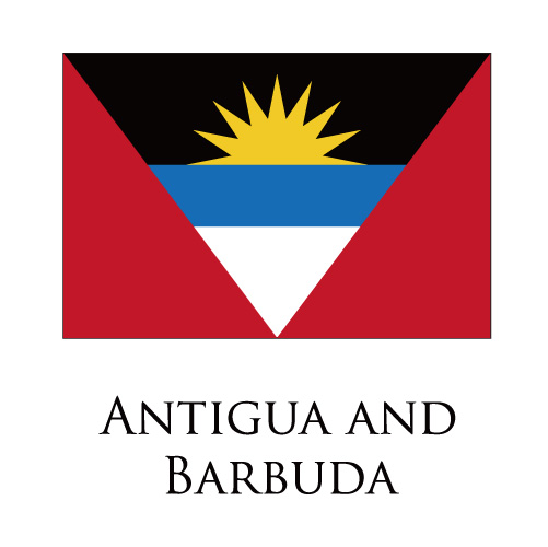 Antigua And Barbuda flag logo iron on sticker