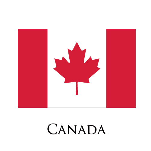 Canada flag logo iron on sticker