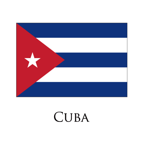 Cuba flag logo iron on sticker