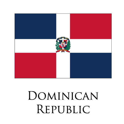 Dominican Republic flag logo iron on sticker
