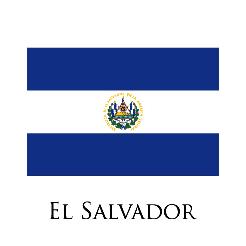 El Salvador flag logo iron on sticker