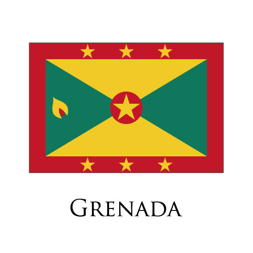Grenada flag logo iron on sticker