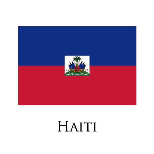 Haiti flag logo iron on sticker