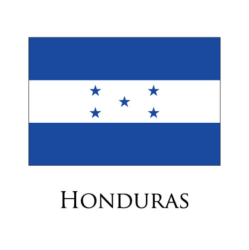 Honduras flag logo iron on sticker