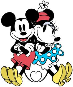 Mickey and Minnie Mouse Logo 03 decal sticker