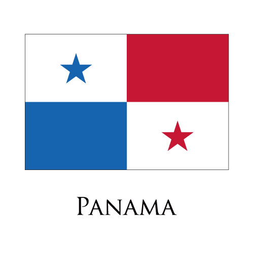 Panama flag logo iron on sticker