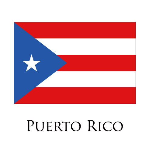 Puerto Rico flag logo iron on sticker