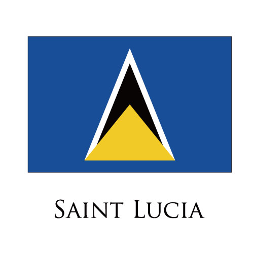 St.lucia flag logo iron on sticker