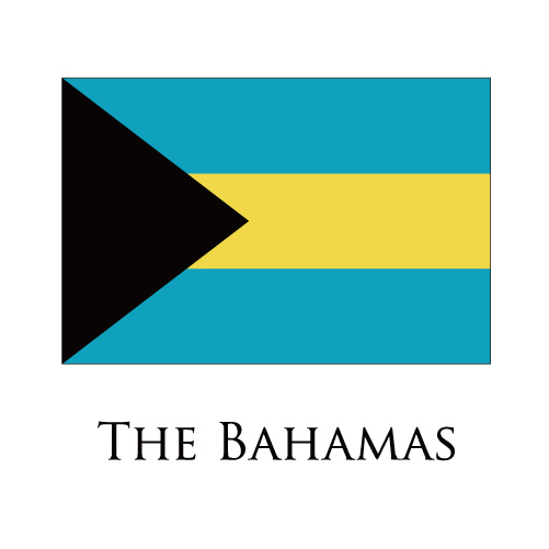 The Bahamas flag logo iron on sticker