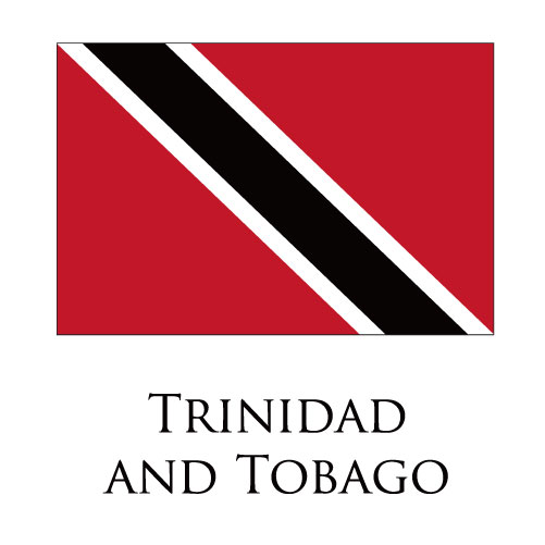Trinidad and Tobago flag logo iron on sticker