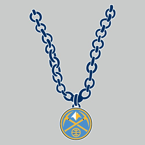 Denver Nuggets Necklace logo iron on sticker
