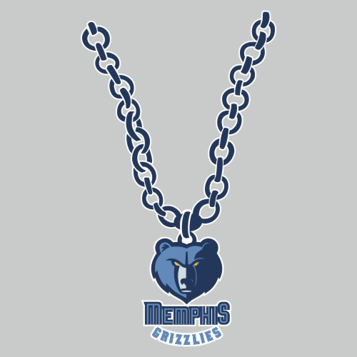 Memphis Grizzlies Necklace logo iron on sticker