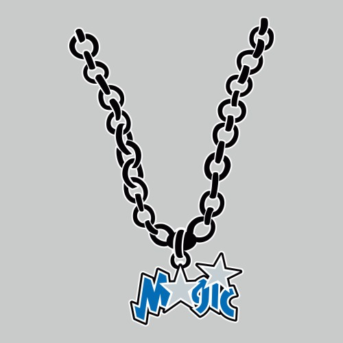 Orlando Magic Necklace logo iron on sticker