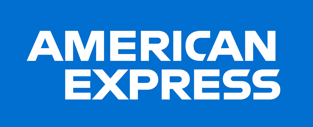 American Express brand logo iron on sticker