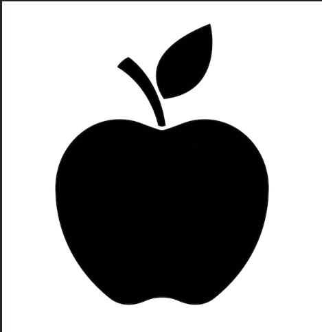 Apple brand logo 05 iron on sticker