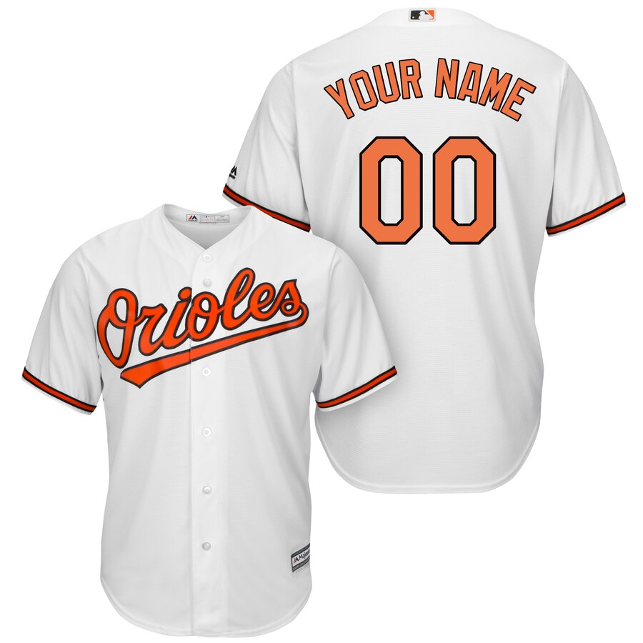 Baltimore Orioles Custom Letter and Number Kits for White home Jersey