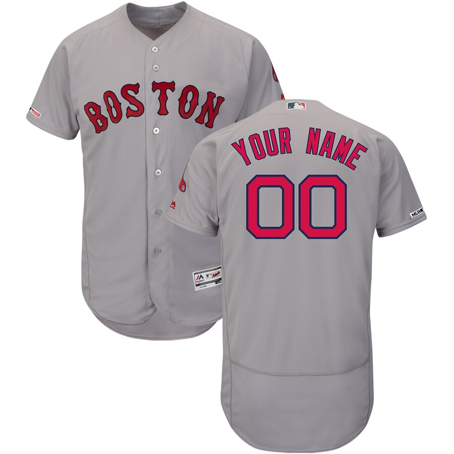 Boston Red Sox Custom Letter and Number Kits for Gray Jersey