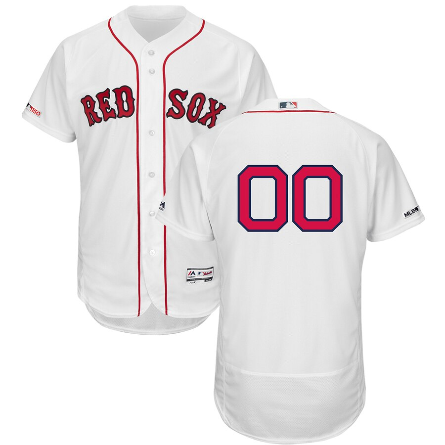 Boston Red Sox Custom Letter and Number Kits for White home Jersey