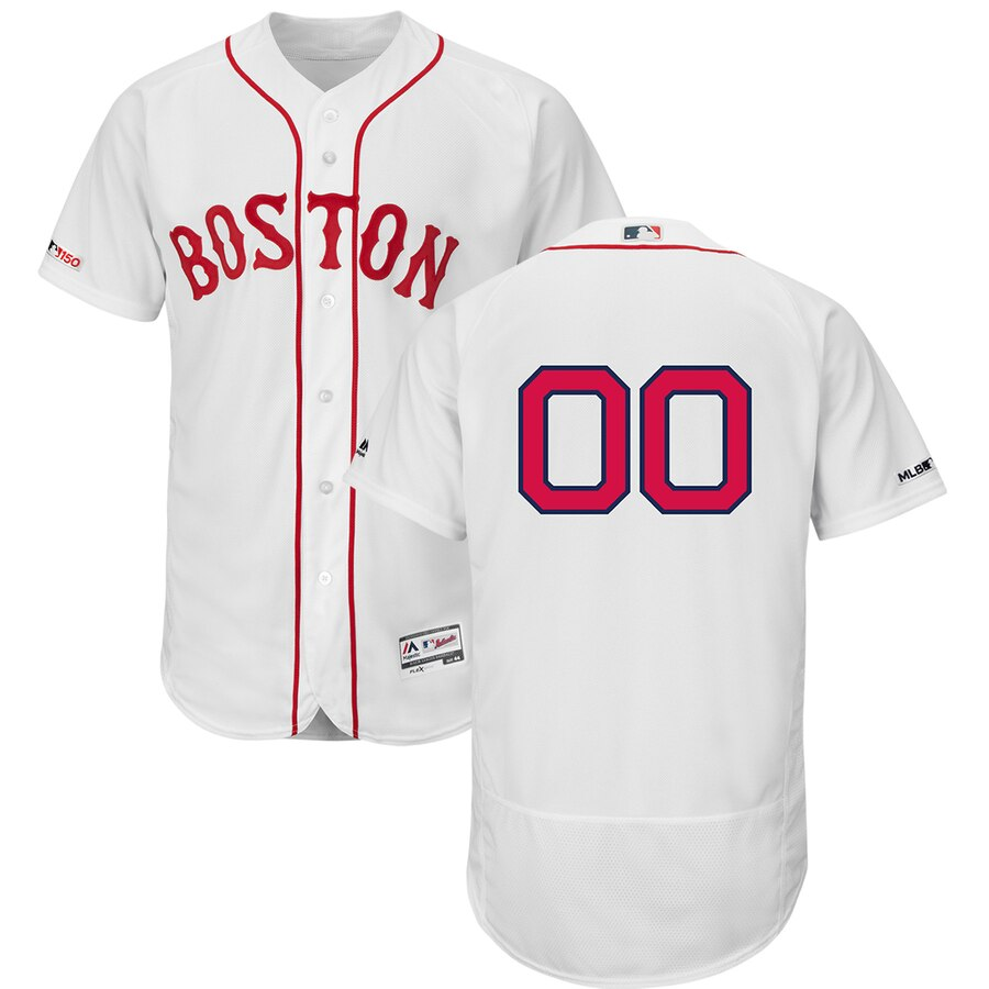 Boston Red Sox Custom Letter and Number Kits for white Jersey