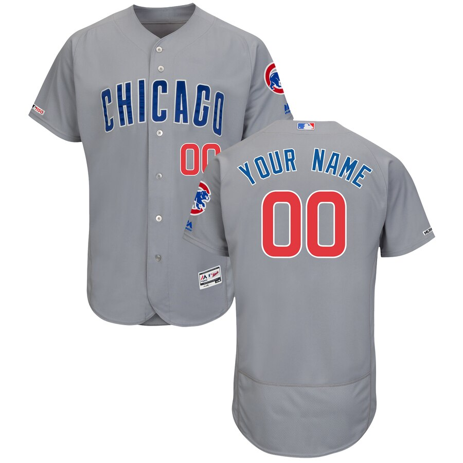 Chicago Cubs Custom Letter and Number Kits for Gray Jersey