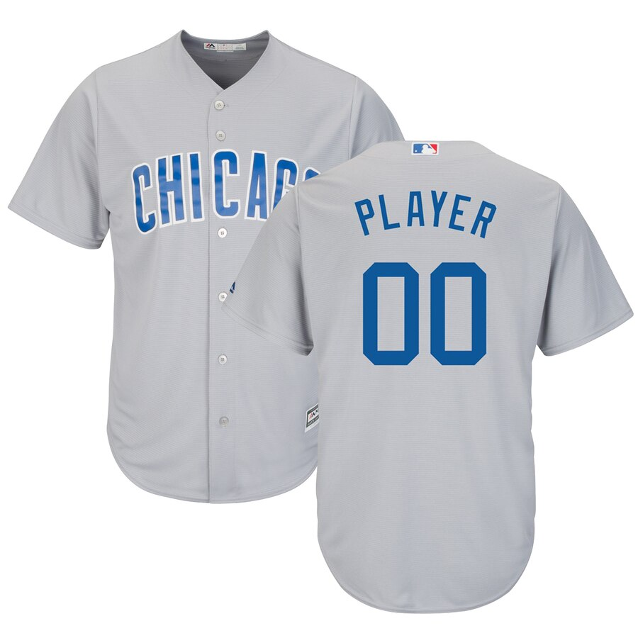 Chicago Cubs Custom Letter and Number Kits for Gray road Jersey