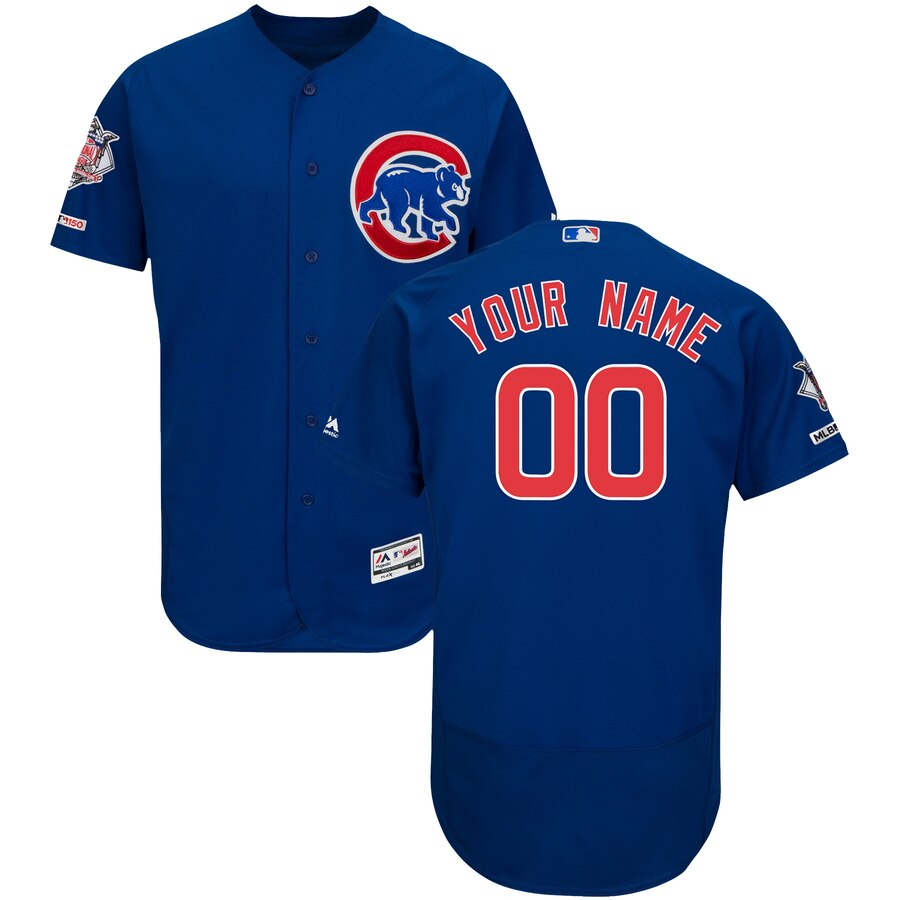 Chicago Cubs Custom Letter and Number Kits for Navy Jersey