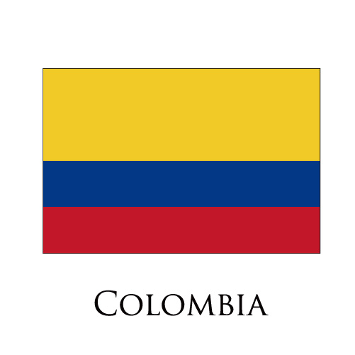 Colombia flag logo iron on sticker